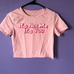 'It's You' Cropped T-shirt